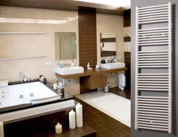 1 Regular curved radiator bathroom Luxrad