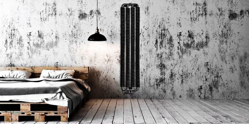Grzejnik Spring w sypialni od Luxrad